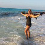 Sun goddess, Anita, enjoying Cancun.